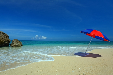 waterside: Gorgeous Beach in Summertime Stock Photo
