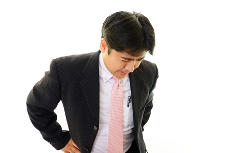 pay cuts: Tired and stressed Asian businessman