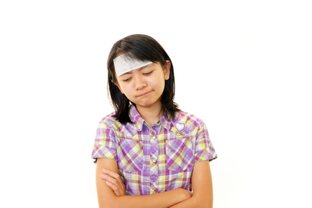 A teenage girl with headache photo