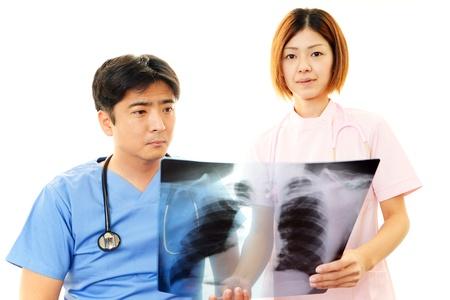 Medical staff working  photo