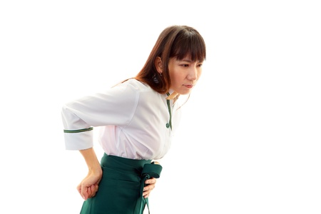 The waitress who suffers from low back pain photo