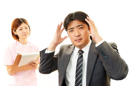 Man of the poor physical condition Stock Photo - 19063333