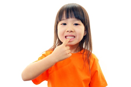 The girl who is worried about a tooth Stock Photo - 19222227