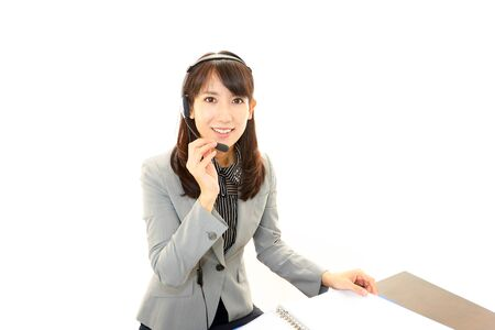 Smiling business woman Stock Photo - 19187308