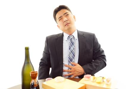drank: The man who drank liquor too much