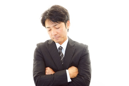 Stressed businessman  写真素材