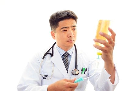 enteritis: The doctor who is working Stock Photo