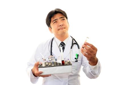 stress testing: Doctor thinking Stock Photo