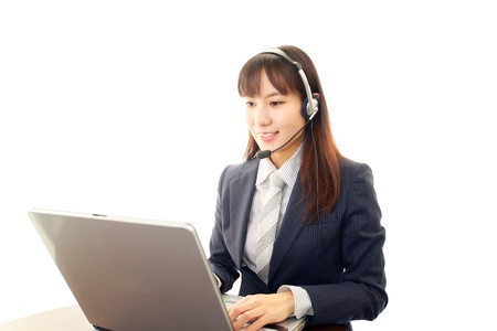 Smiling business woman Stock Photo - 19584474