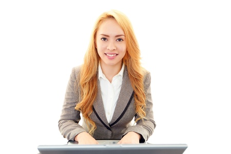 Smiling business woman Stock Photo - 19584496