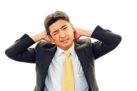 pay cuts: Stressed businessman  Stock Photo