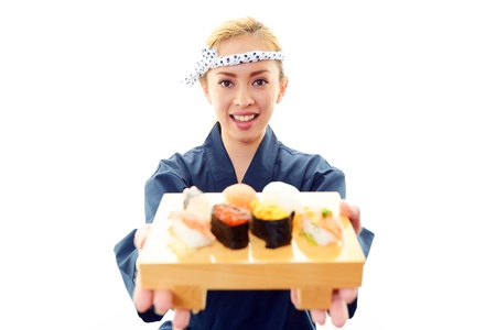 Woman chef of the smile photo