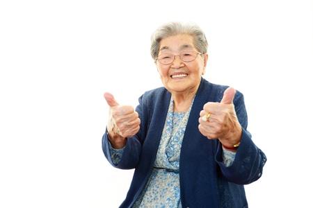 미소 늙은 여자 스톡 콘텐츠