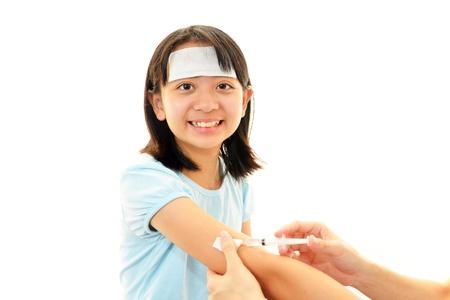 meningococcal: Muchacha sonriente