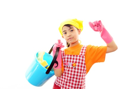 The girl who helps with housework photo