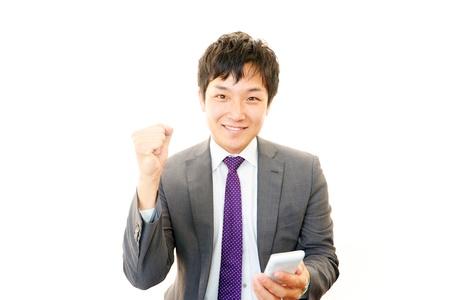 salaried worker: Businessman enjoying success