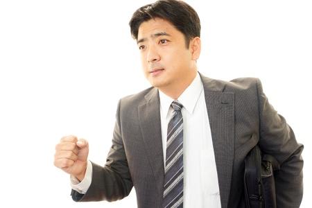 earnest: El hombre de negocios de una expresi�n seria Foto de archivo