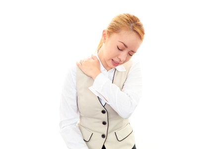 Woman with shoulder neck pain  Stock Photo - 19949348
