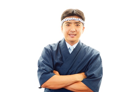 Japanese chef of the smile photo