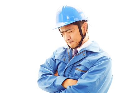 tiring: Worker of a tiring state Stock Photo