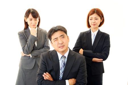 A businessman and the office lady photo