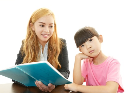 The girl who studies photo
