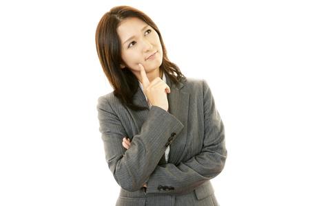 Stressed Business Woman Standard-Bild