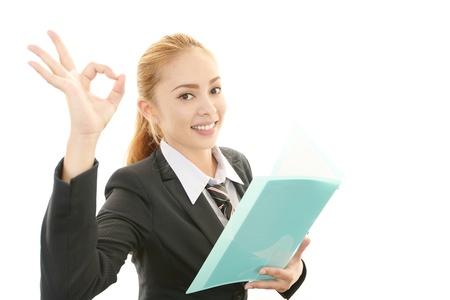 Business woman enjoying success photo