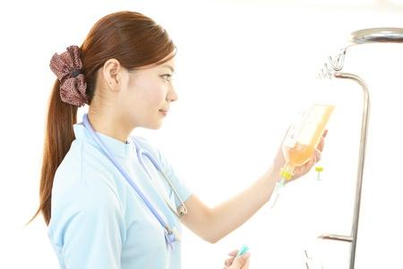 enteritis: Concerned nurse