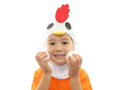 Little girl wearing costume