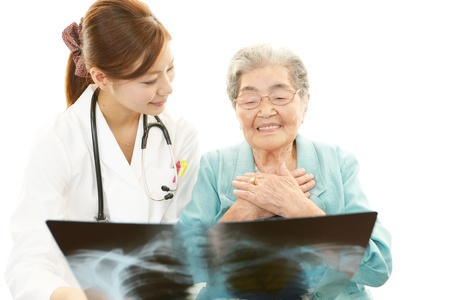 asian medical: Asian medical doctor and senior woman