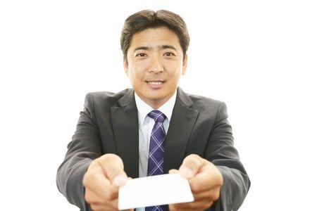 salaried worker: Business card exchange