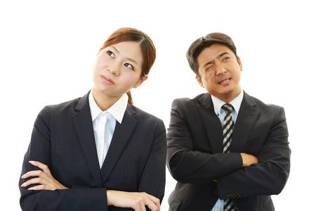 nespokojen: Nespokojený podnikatel a podnikatelky Reklamní fotografie