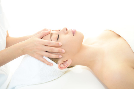 Women who have a facial massage