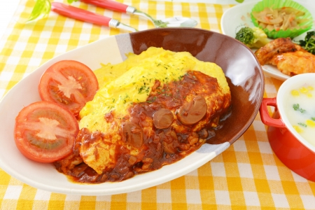 omelet meal image photo