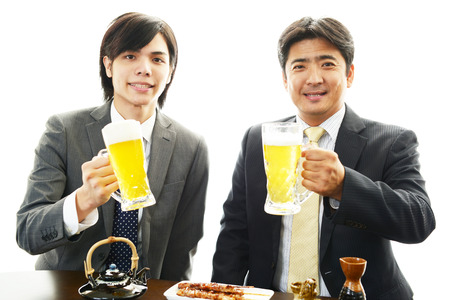 Men drinking beer photo