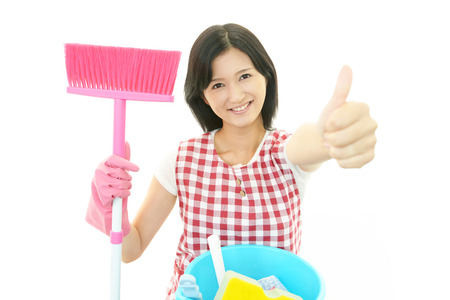 Woman with a cleaning photo