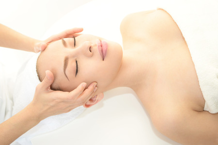 Women who have a facial massage photo