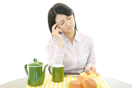 A woman with no appetite