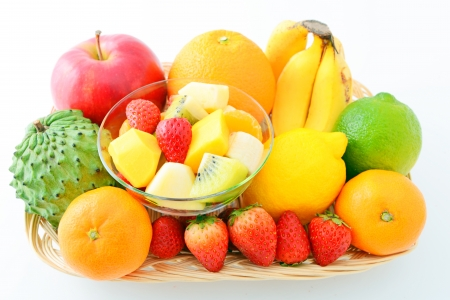 Fresh fruit and fruit salad photo