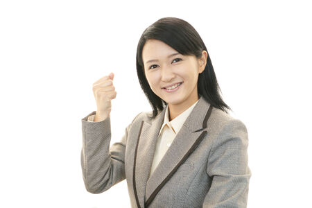 Business woman enjoying success photo