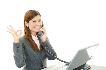 liveliness: Business woman enjoying success