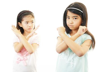 nespokojen: Nespokojení dívky Reklamní fotografie