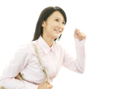 liveliness: Office lady smiling