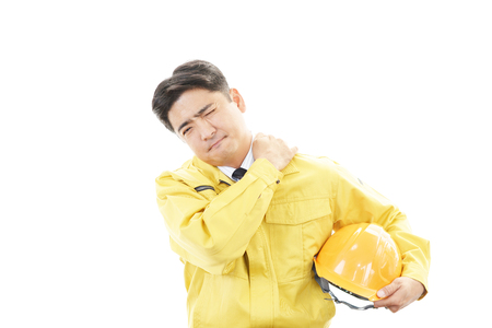 Worker with shoulder pain  photo