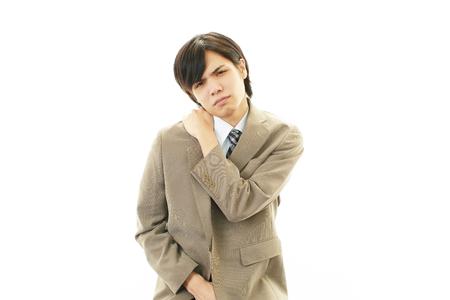 Businessman with shoulder pai 版權商用圖片