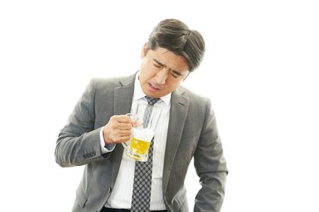 brash: Portrait of a drunken man  Stock Photo