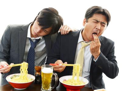 Portrait of a drunken men  photo