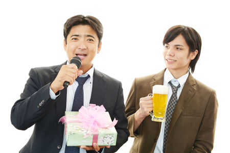 Men drinking beer photo