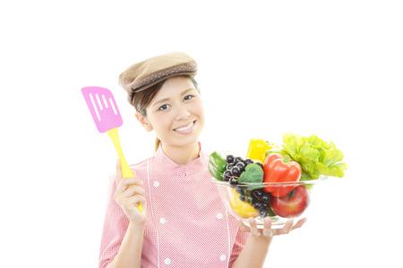 Smiling waitress photo